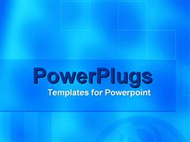 PowerPoint template displaying a plain black and white surface tile with an @ symbol