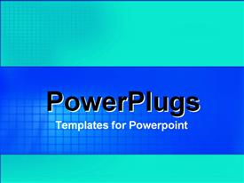PowerPoint template displaying a plain sky blue and deep blue background surface