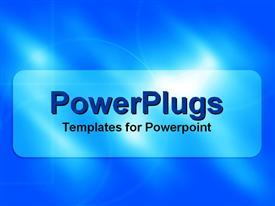 PowerPoint template displaying a plain sky blue and white background with some lights