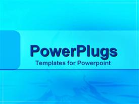 PowerPoint template displaying a plain aqua blue colored background with a strip in the middle