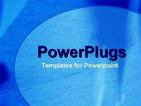PowerPoint template displaying a plain simple background painted two shades of blue