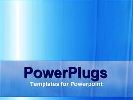 PowerPoint template displaying a plain blue and white background surface tile with bright light