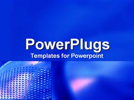 PowerPoint template displaying a plain dark blue background with a dotted side