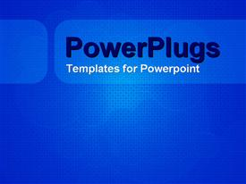 PowerPoint template displaying a plain blue and white tile with lots of tiny cubes
