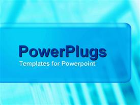 PowerPoint template displaying a plain blue background with a blue middle strip