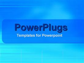 PowerPoint template displaying a plain deep blue and sky blue colored background