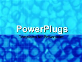 PowerPoint template displaying a plain deep blue and sky blue background surface tile