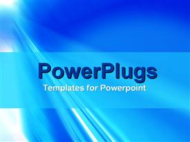 PowerPoint template displaying depiction of a plain blue and white shiny background surface
