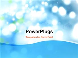 PowerPoint template displaying beautiful bokeh effect with blue color