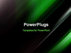 PowerPoint template displaying futuristic Technology Abstract Green Colored Stripes
