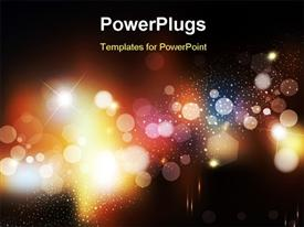 PowerPoint template displaying fantastic and elegant bokeh effect with black color
