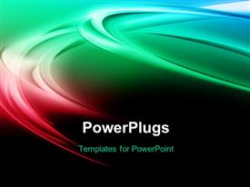 PowerPoint template displaying elegant colorful curves with black color