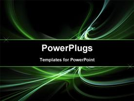 Abstract green element powerpoint design layout