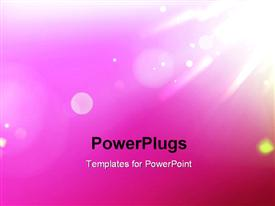 PowerPoint template displaying beautiful shine effect