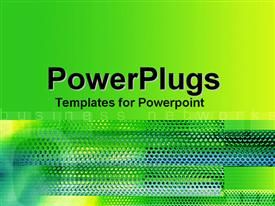 PowerPoint template displaying a number of green and blue dots with greenish background