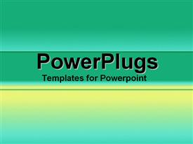 PowerPoint template displaying a plain bright reflective green and yellow background