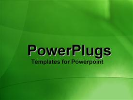 PowerPoint template displaying a greenish background with few lines
