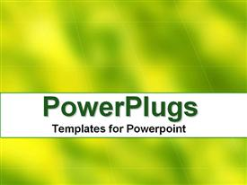 PowerPoint template displaying a yellow and greenish background with place for text