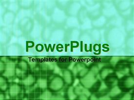 PowerPoint template displaying depiction of a plain green background board with lines