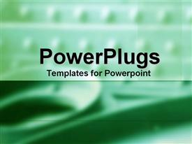 PowerPoint template displaying a plain green and white background surface tile with blurry images
