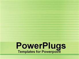 PowerPoint template displaying depiction of a plain green and white background board