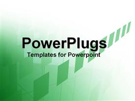 PowerPoint template displaying plain green and white surface with some connected tiles