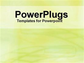 PowerPoint template displaying white text banner on background of lime green scribbles