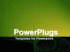 PowerPoint template displaying a representation of green wireframe with place for text