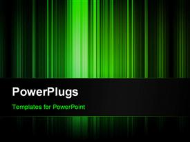 PowerPoint template displaying abstract vertical dark green strips