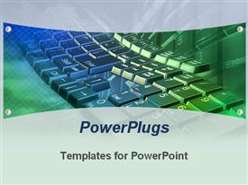 PowerPoint template displaying abstract depiction of an array of black computer keyboard