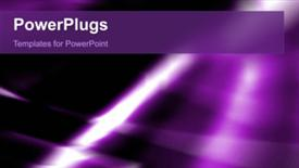 PowerPoint template displaying video of abstract purple lights and shapes on first slide and static slides next