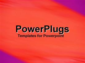 PowerPoint template displaying blood Red Orange in the background.