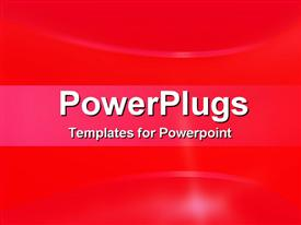 PowerPoint template displaying a simple red background with shine