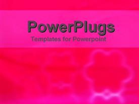 PowerPoint template displaying a plain pink colored blurry background with floral designs