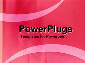 PowerPoint template displaying abstract depiction of a plain pink background with curvy designs