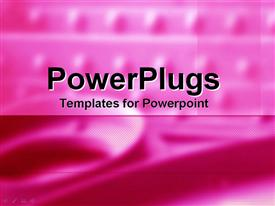 PowerPoint template displaying a plain pink and white background surface  with some shapes