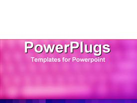 PowerPoint template displaying a plain white and pink blurry colored background surface