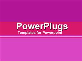 PowerPoint template displaying a plain purple colored background with a middle strip
