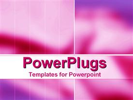 PowerPoint template displaying two shades of plain pink painted background with lines