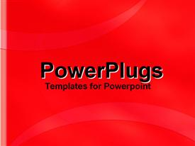 PowerPoint template displaying a simple background in red color