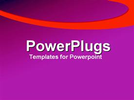 PowerPoint template displaying a plain purple background surface tile with athick orange strip