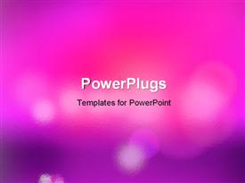 PowerPoint template displaying beautiful blurred bokeh lights with colors
