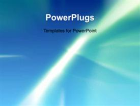 PowerPoint template displaying soft blue glow with rays