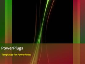 PowerPoint template displaying bright electric abstract power streaks with black color