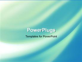 PowerPoint template displaying abstract blue background