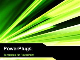 PowerPoint template displaying abstract green color motion