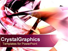 Vibrant shapes with lens flare powerpoint design layout