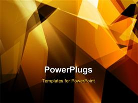 PowerPoint template displaying vector wallpaper with geometric patterns and black color