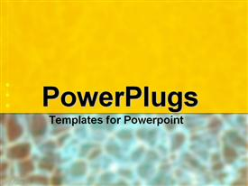 PowerPoint template displaying allusion to water and sand
