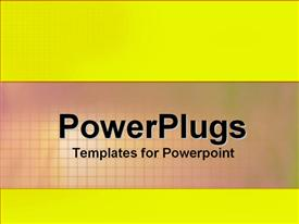 PowerPoint template displaying a plain bright yellow colored background surface tile